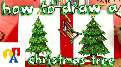 christmas decorations for kids to draw how to draw a tree