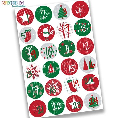 Aufkleber Adventskalender 24 adventskalender zahlen nr 15 aufkleber sticker