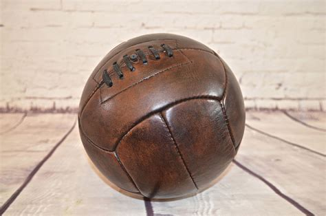 Handmade Leather Football - fantastic handmade vintage style brown leather football