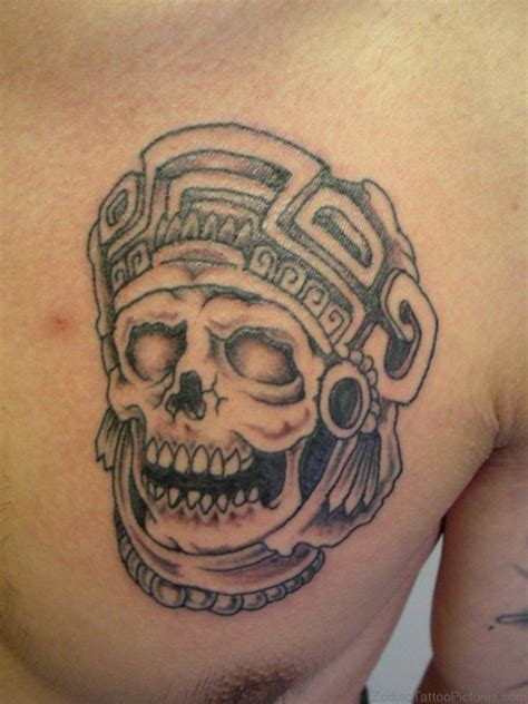 aztec chest tattoos 50 best zodiac aztec tattoos on chest