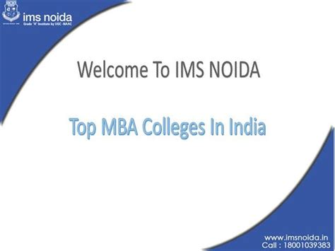 Work Experience For Mba In India by Top Mba Colleges In India Authorstream