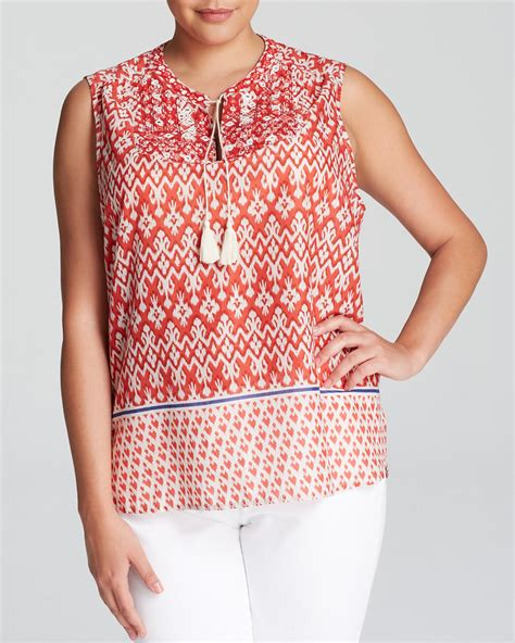 Beachlunchlounge 3x by Beachlunchlounge Plus Rina Printed Top Bloomingdale S Exclusive Bloomingdale S