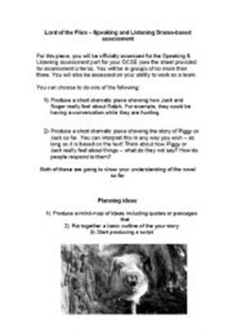 English teaching worksheets: Lord of the flies