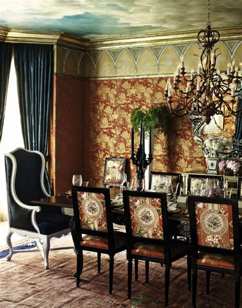 regency style italian gold living room set beverly hills estate eclectic dining room los