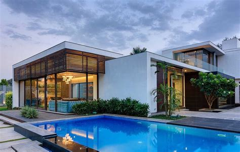 2 story house with pool contemporary new delhi villa with amazing courtyard and