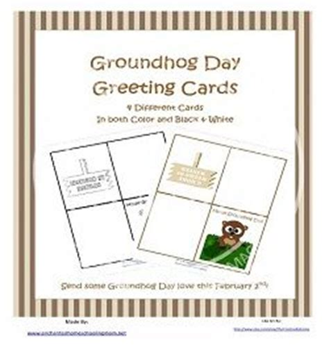 groundhog day greeting cards free printable groundhog day greeting cards
