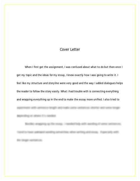 cover letter for essay 1 cover letter when i first got