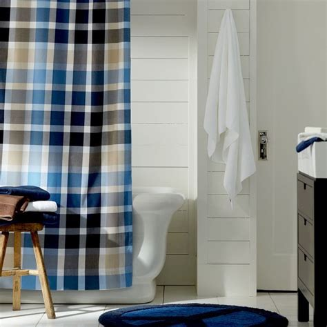 plaid shower curtains palmer plaid shower curtain traditional shower