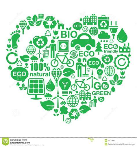 Eco Bag Eco Heart Background Green Ecology Stock Image Image