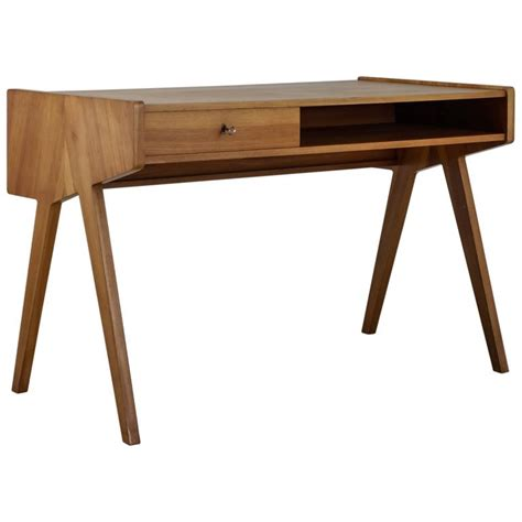 small writing desk helmut magg small wooden writing desk germany 1950s at 1stdibs