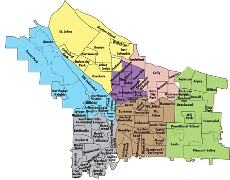 printable zip code map portland oregon portland oregon neighborhood map portland oregon mappery