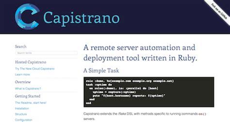 capistrano workflow top devops tools devopssummit devops docker apm
