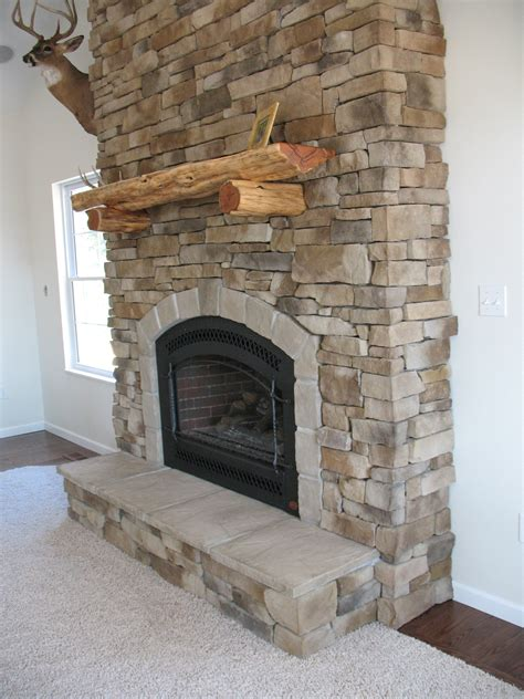 rock fireplaces fireplace veneered house ideas brick wall rustic stone