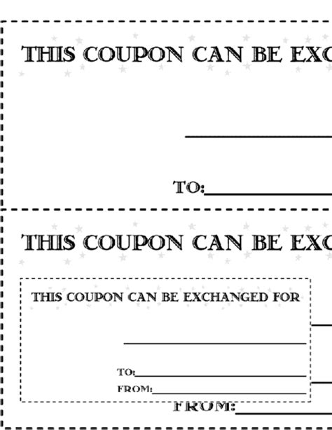 black and white printable love coupons education world christmas coupon version 2 template