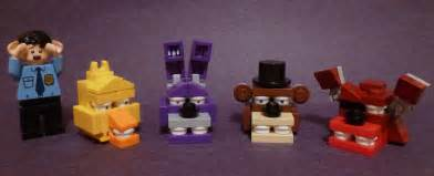 Lego brick built five nights at freddy s heads more like f