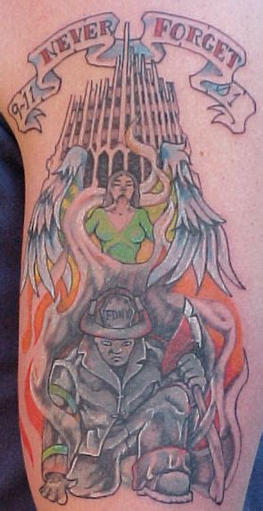 firefighter armband tattoos