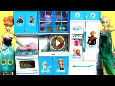 Mainan Kitchen Set Frozen With Doll disney frozen luxury kitchen set play doh princess elsa cooking with