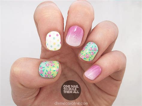 tutorial nail art pita ombre nail art tutorial florals and dots and gradients