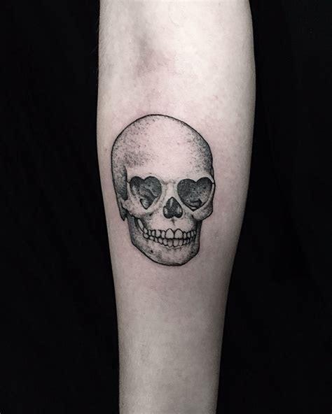 skull heart tattoo eyed skull losangeles skull hearts
