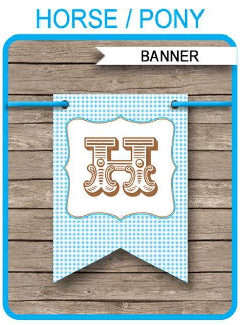 Bunting Flag Happy Birthday Pony Banner Hbd Pony birthday banner template pony bunting editable text