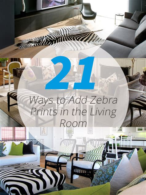 ways  add zebra prints   living room home