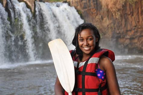 Photos: Dennis Okari and Betty Kyalo Go Rafting At Sagana
