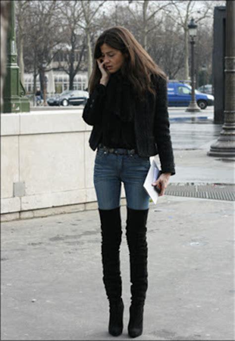 black dress thigh high boots