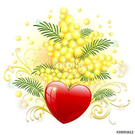 immagine di mimosa fiore quot mimosa fiore e cuore mimosa and festa della donna