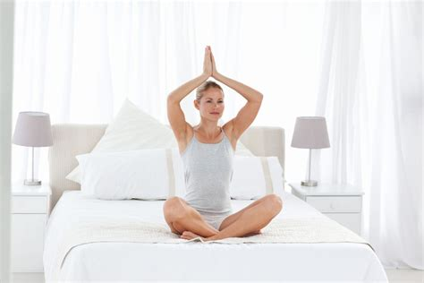 yoga in bed 5 wake up yoga poses that you can do in bed