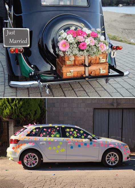 Just Married Autoschild Blechdosen by 12 Originelle Ideen Das Hochzeitsauto Zu Schm 252 Cken