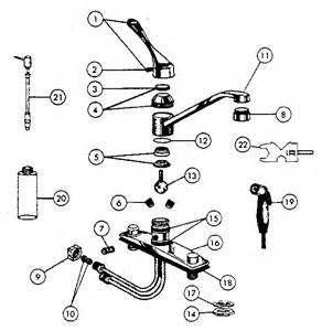 Parts Of A Kitchen Faucet Diagram Peerless Kitchen Faucet Parts Model 3605 Sears Partsdirect