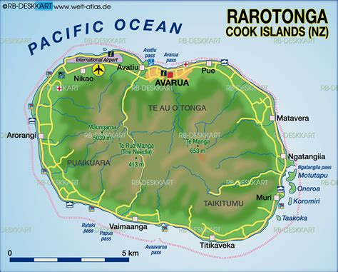 cook islands map map of rarotonga cook islands new zealand map in the atlas of the world world atlas