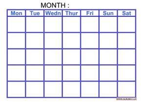 Calendar Grid Template by Blank Calendar Grid Template Calendar Template 2016