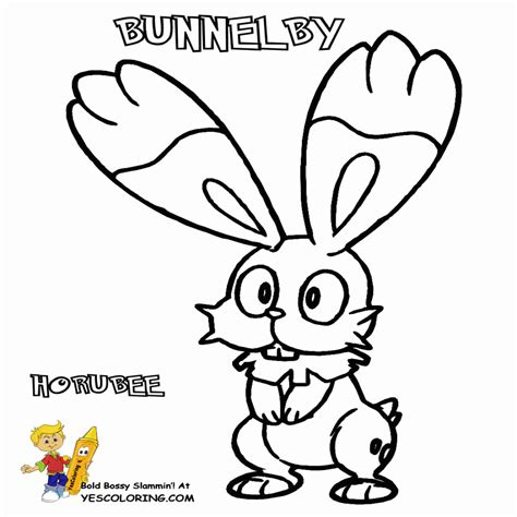 pokemon coloring pages bunnelby pokemon x and y kleurplaten