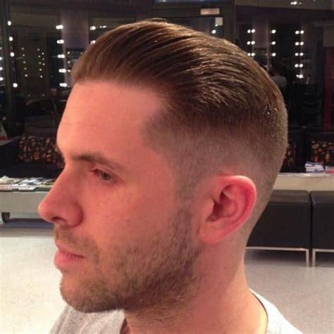 zero one fade hair cut quiff with a zero fade down at the barbershop pinterest