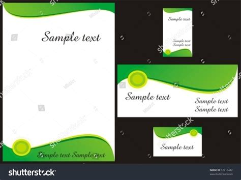 Memo Template Vector Corporate Identity Design Template Vector Memo Stock