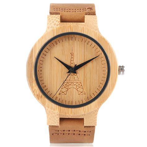 Handmade Leather Watches - s wrist bamboo handmade quartz genuine