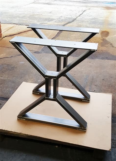 metal bench legs contemporary modern dining table quot x quot legs model tts09c heavy duty