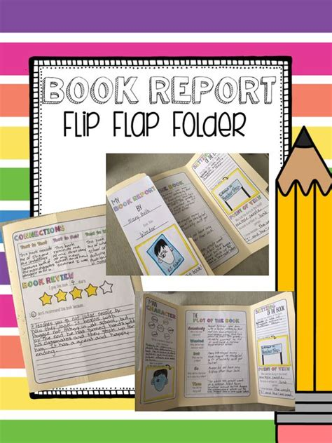 File Folder Biography Book Report by Book Report Interactive Flip Flap Folder Novels Student And Activities