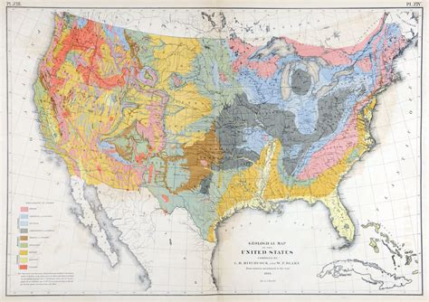 atlas map of the united states geological map of the united states compiled by c h