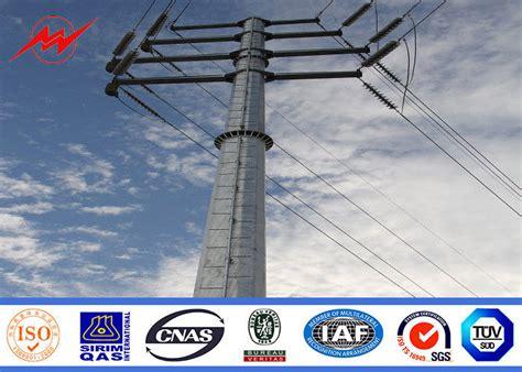 electric light pole 110kv steel utility pole electric light pole for