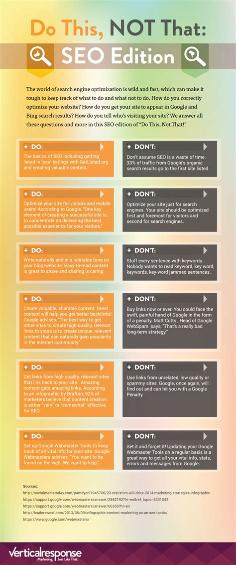 the dos and don ts of dark web design webdesigner depot do this not that seo edition infographic