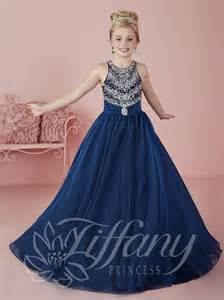 Jovani Wedding Dresses Tiffany Princess 13466 Girls Sparkling Beaded Pageant Dress French Novelty