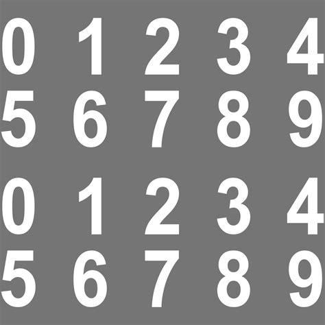 Aufkleber Am Auto Entfernen Ohne Fön by 100 St 252 Ck Ziffern Aufkleber 2cm Wei 223 Ziffer Zahl Zahlen