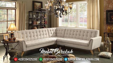 Sofa L Minimalis Terbaru sofa tamu sudut minimalis jati model l mewah