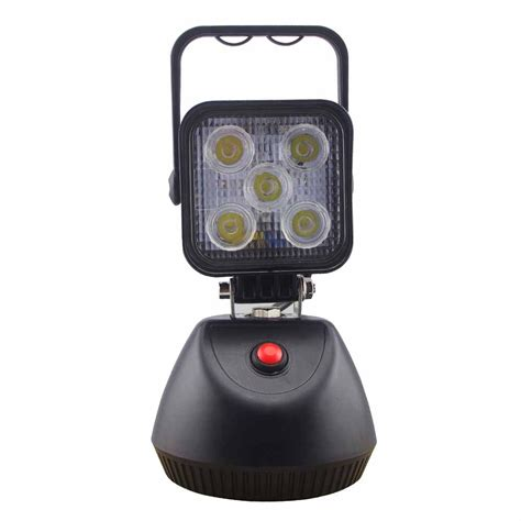magnetic led work light rechargeable 15w rechargeable portable led work light with magnetic
