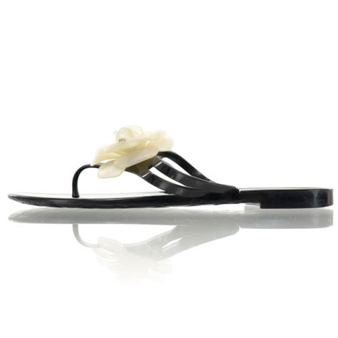 Chanel Clucth Jelly chanel jelly camellia sandals 40 black ivory 37893