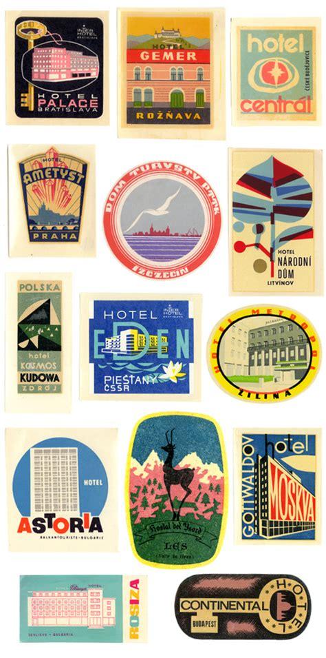 Kofferaufkleber Zum Drucken by Friday Finds Vintage Travel Stickers Shiny Suitcase