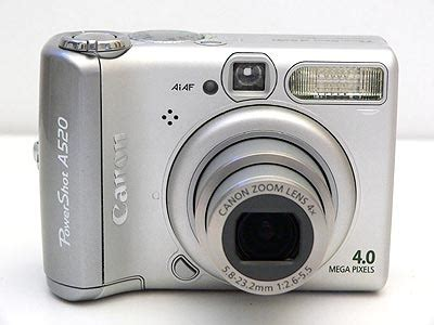 Digicamreview Com Canon Powershot A520 Review