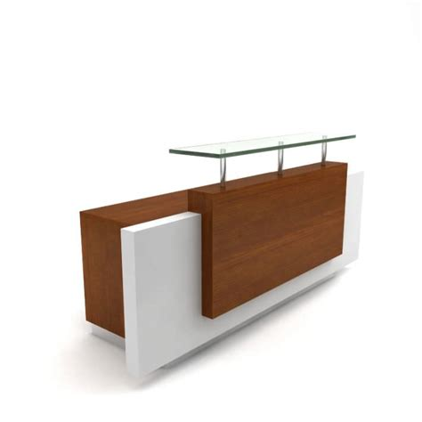 front reception desks front wooden reception desk 3d model cgtrader